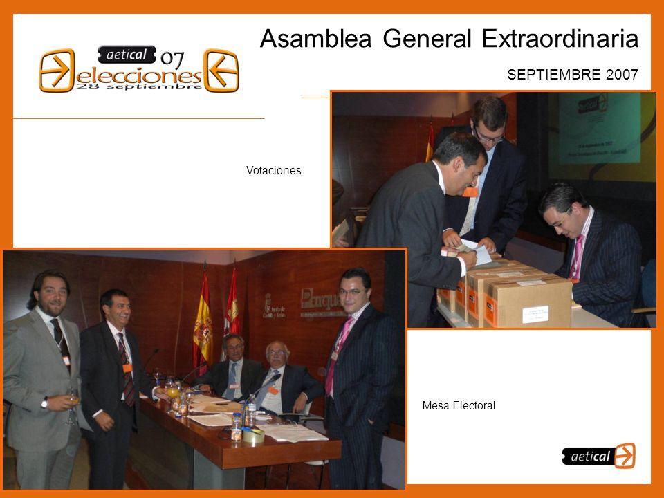 5 Asamblea General Extraordinaria SEPTIEMBRE 2007 Votaciones Mesa Electoral