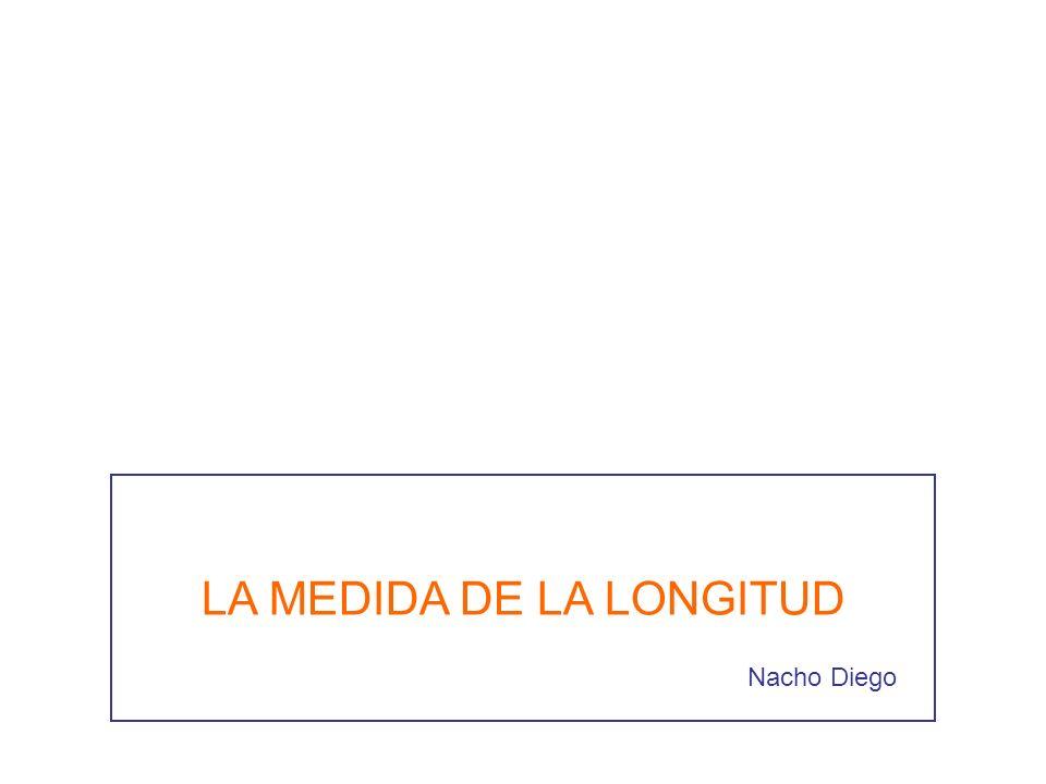 LA MEDIDA DE LA LONGITUD Nacho Diego