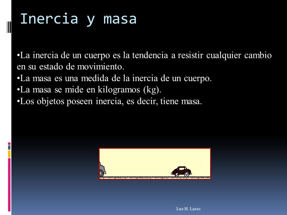 La inercia de un cuerpo es la tendencia a resistir cualquier cambio en su estado de movimiento. La masa es una medida de la inercia de un cuerpo. La m
