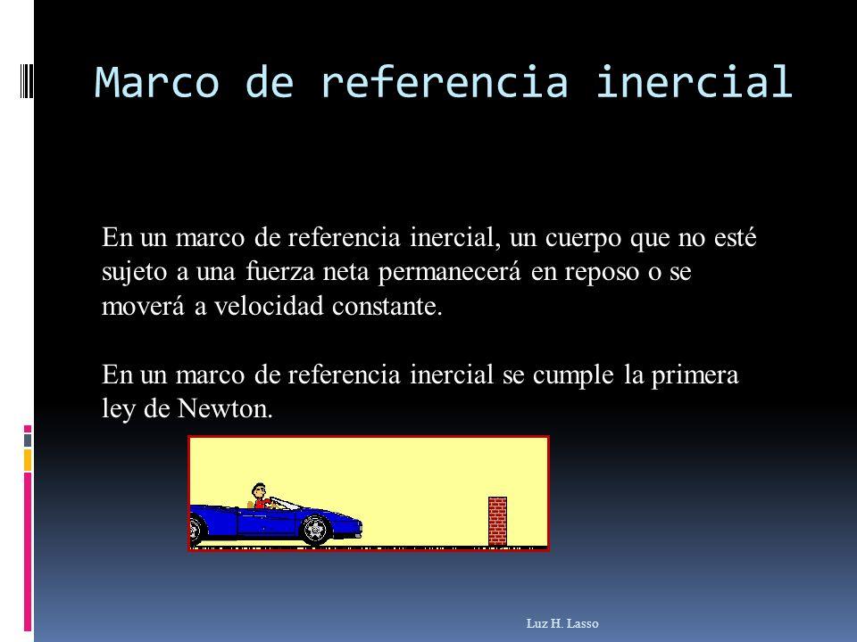 En un marco de referencia inercial, un cuerpo que no esté sujeto a una fuerza neta permanecerá en reposo o se moverá a velocidad constante. En un marc