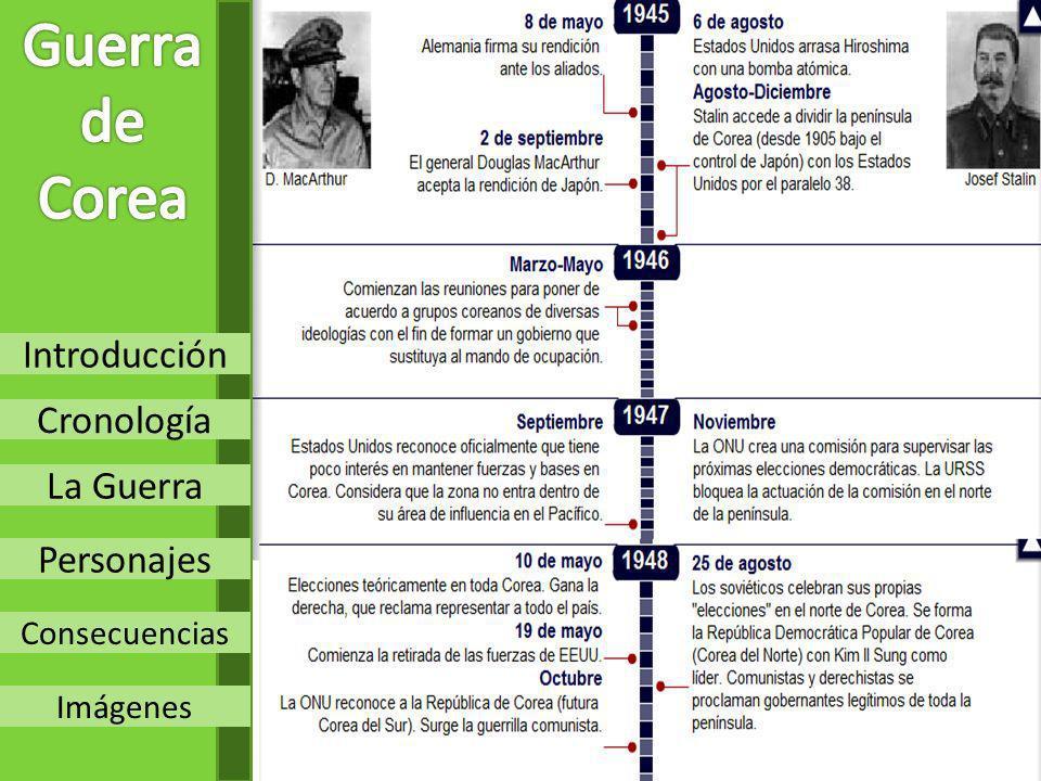 Introducción Cronología La Guerra Personajes Consecuencias Imágenes