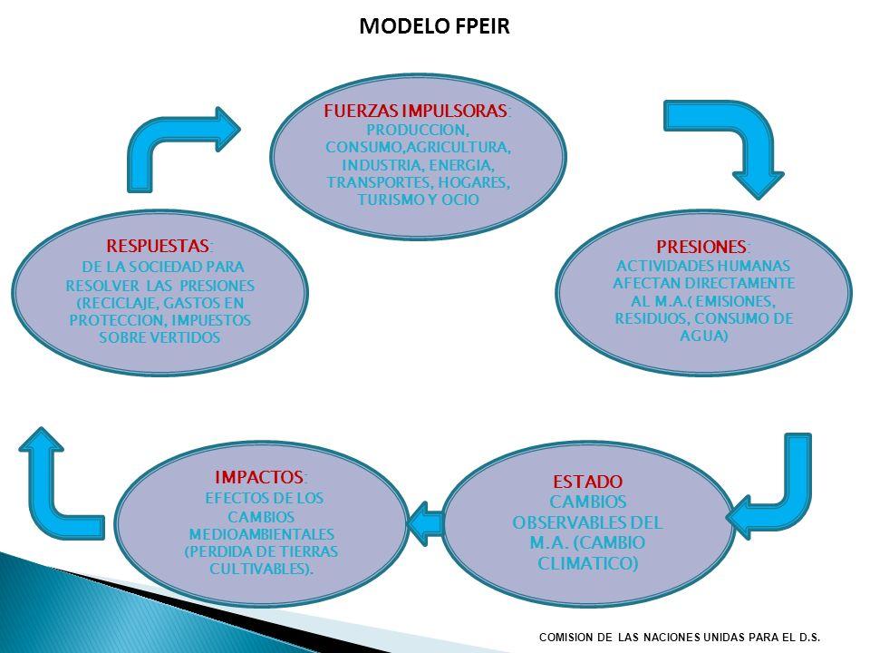 MODELO FPEIR RESPUESTAS: DE LA SOCIEDAD PARA RESOLVER LAS PRESIONES (RECICLAJE, GASTOS EN PROTECCION, IMPUESTOS SOBRE VERTIDOS PRESIONES: ACTIVIDADES