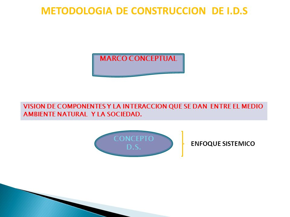 MARCO CONCEPTUAL METODOLOGIA DE CONSTRUCCION DE I.D.S MODELOS M.PRESION M.