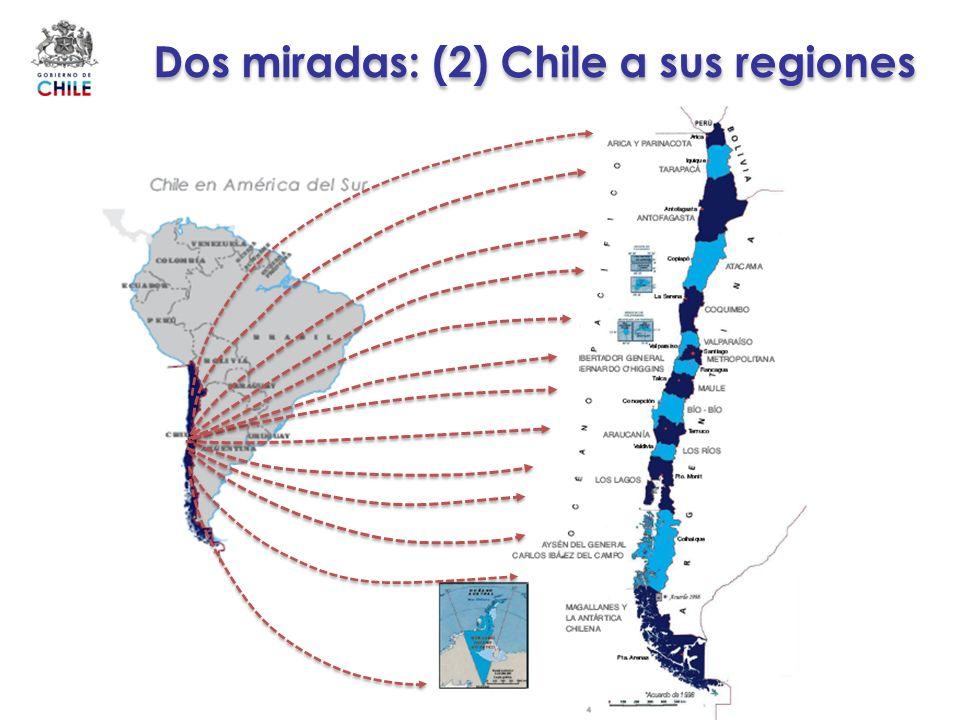 Dos miradas: (2) Chile a sus regiones