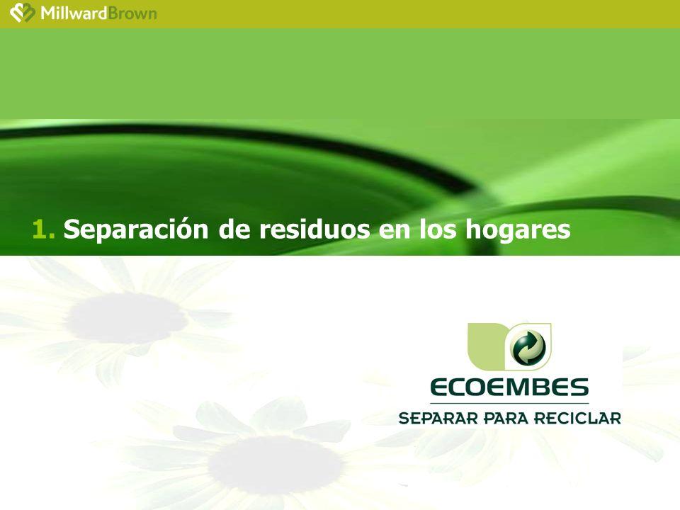 1. Separación de residuos en los hogares
