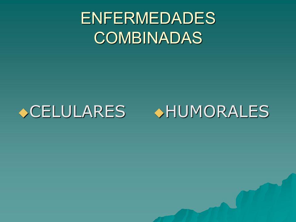 ENFERMEDADES COMBINADAS CELULARES CELULARES HUMORALES HUMORALES