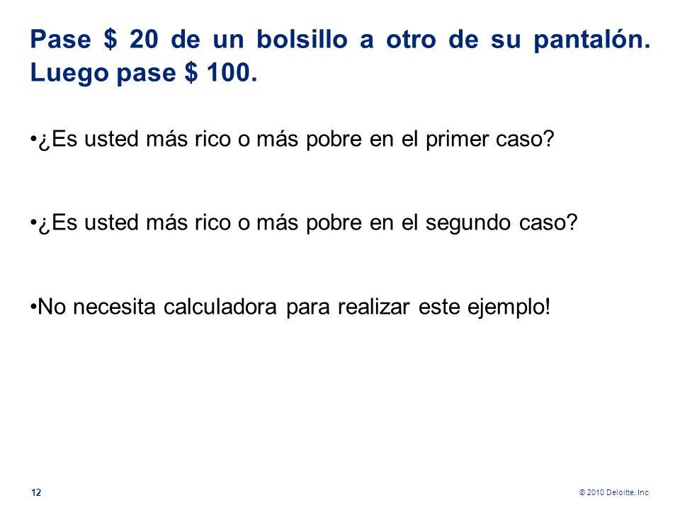 © 2010 Deloitte, Inc ¿Cómo estos 3 ejemplos se verán por parte del auditor fiscal? Tomemos al banco que compraba de su afiliada una empresa al valor n