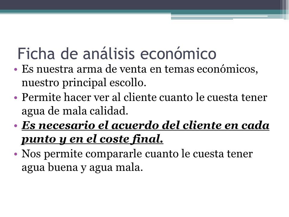 Ficha de análisis económico Es nuestra arma de venta en temas económicos, nuestro principal escollo.