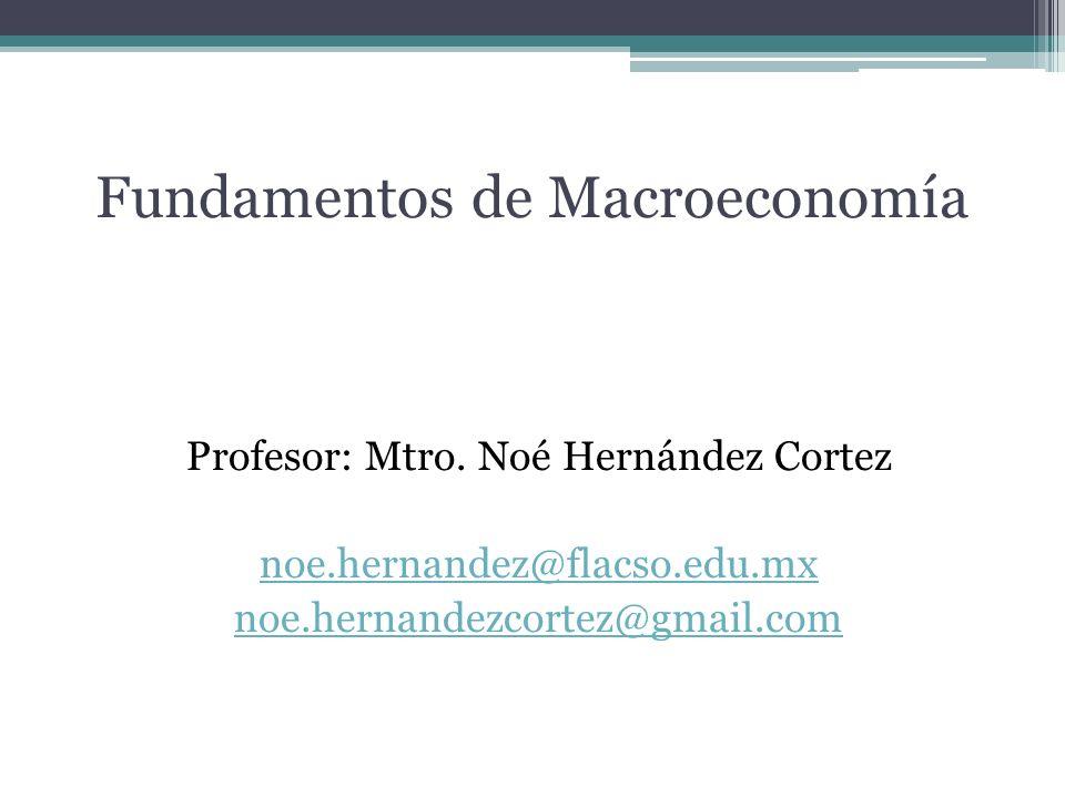 Fundamentos de Macroeconomía Profesor: Mtro.