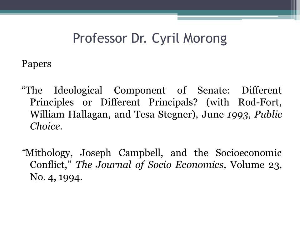 Professor Dr.Cyril Morong Papers La intersección entre señales económicas y símbolos míticos.