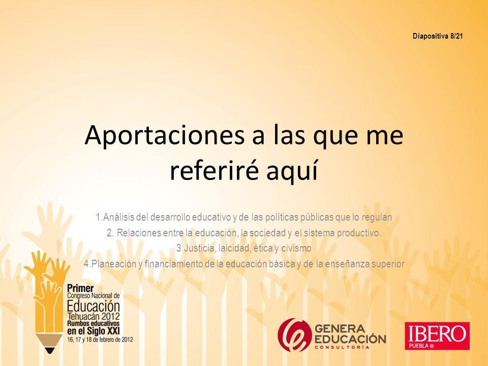 II.El discurso que pronunció Don Pablo en la clausura del Congreso Nacional de Investigación Educativa que se llevó a cabo en la ciudad de Mérida.