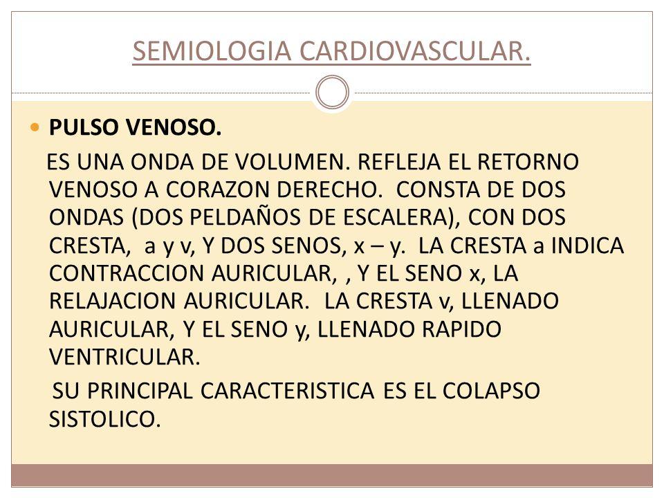 CURSO DE SEMIOLOGIA CARDIOVASCULAR.PULSO ARTERIAL.