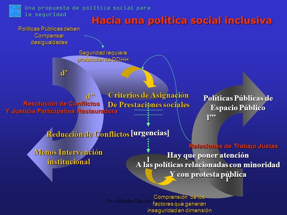 l Criterios de Asignación De Prestaciones sociales Una propuesta de política social para la seguridad Políticas Públicas deben Compensar desigualdades