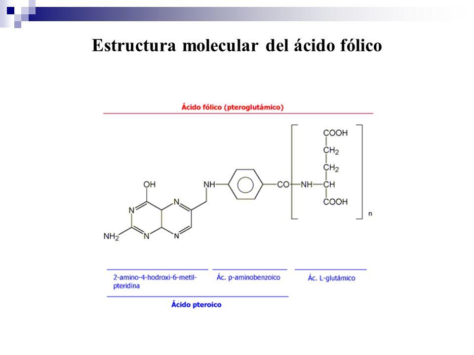 Estructura molecular del ácido fólico
