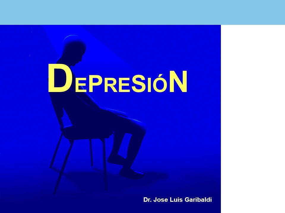 CRITERIOS DIAGNÓSTICOS DE LA DEPRESIÓN MAYOR SEGÚN EL DSM-IV P resencia de 5 o más síntomas durante un período de 2 semanas que representan un cambio respecto a la actividad previa; uno de los síntomas debe ser ánimo depresivo o pérdida de interés.