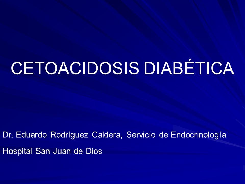 Concepto: La cetoacidosis diabética representa la descompensación extrema de la Diabetes mellitus caracterizada por trastornos en el metabolismo de los hidratos de carbono, proteínas y grasas.