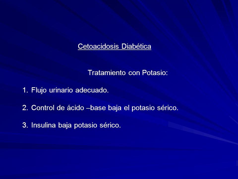Cetoacidosis Diabética Tratamiento con Fosfato: 1.Disfunción ventricular izquierda.