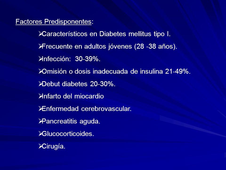 Diabetes mellitus descompensada Insulina Hormonas contrarreguladoras de insulina
