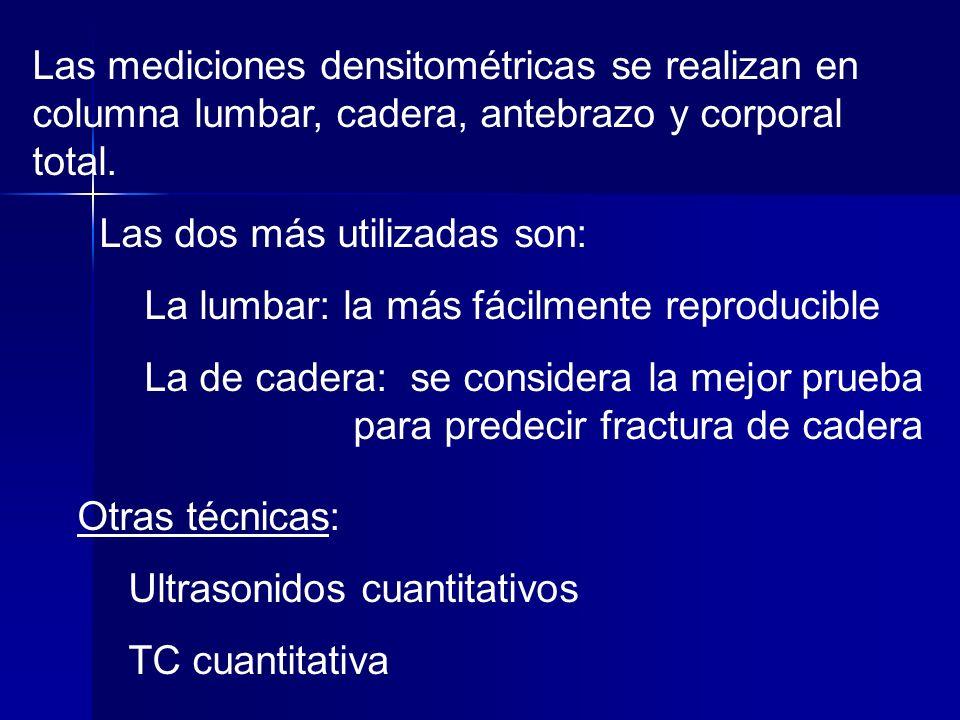 La OMS ha establecido unos criterios de diagnóstico según el valor de t.