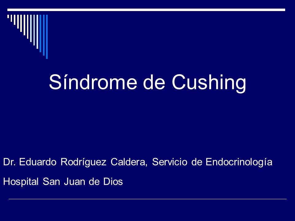 El síndrome de Cushing endógeno es una entidad muy rara.