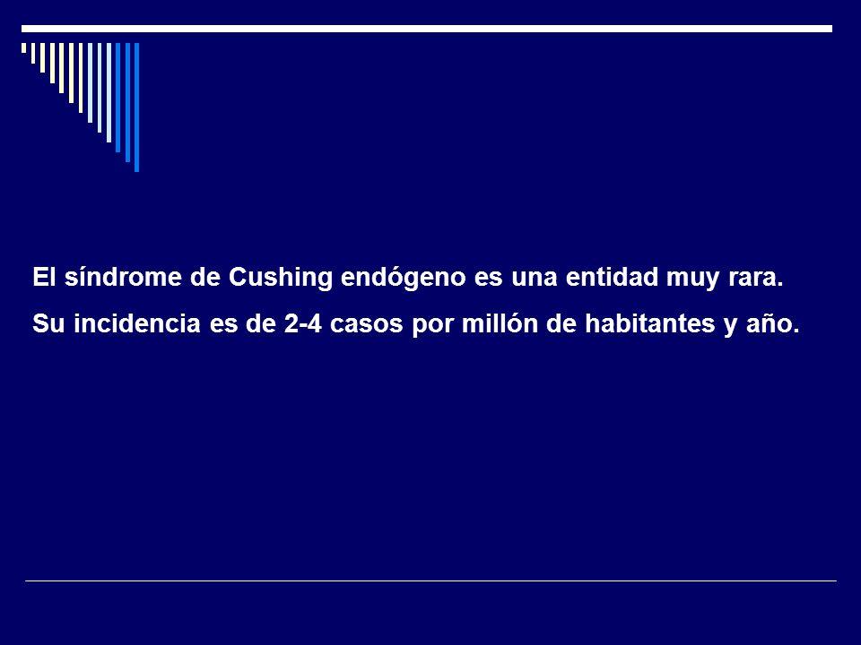 La enfermedad de Cushing es la causa más frecuente de síndrome de Cushing endógeno, unas 5 ó 6 veces.