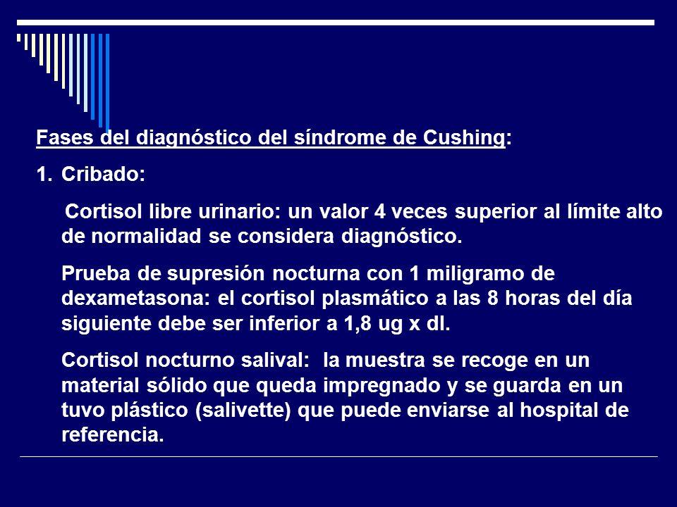 Fases del diagnóstico del síndrome de Cushing: 2.