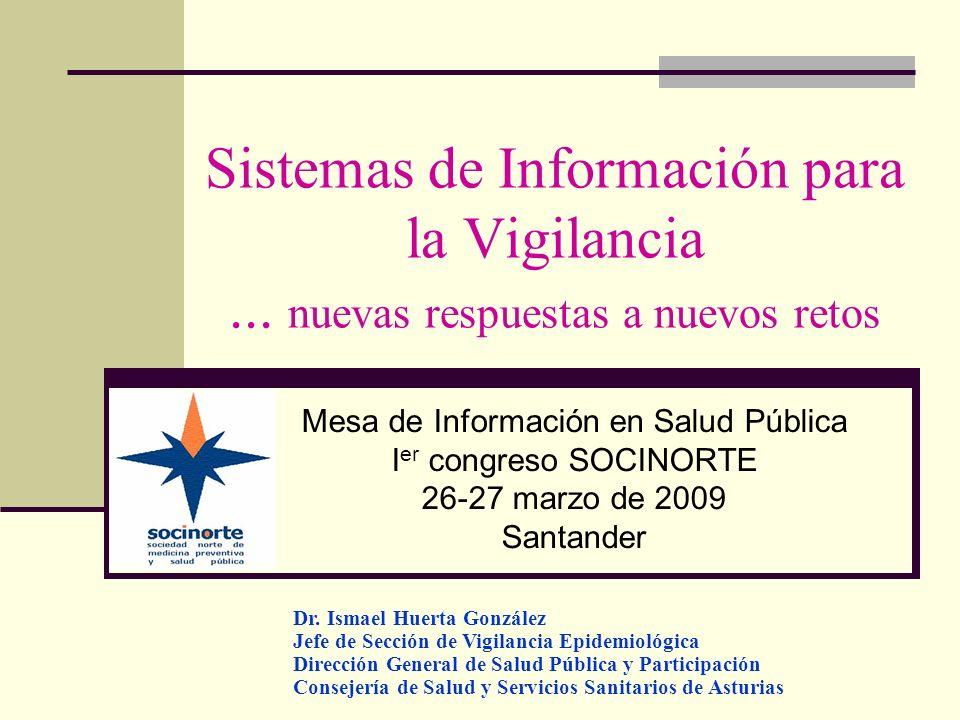Sistemas de Información para la Vigilancia... nuevas respuestas a nuevos retos Mesa de Información en Salud Pública I er congreso SOCINORTE 26-27 marz