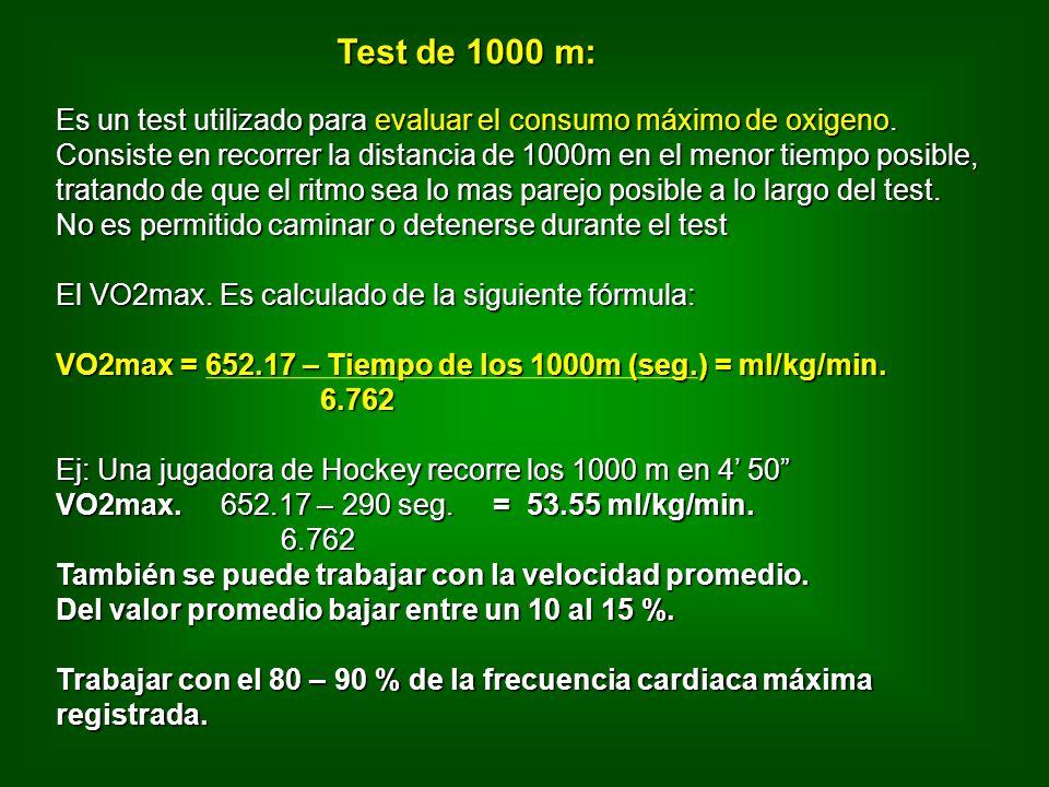 Es un test utilizado para evaluar el consumo máximo de oxigeno.