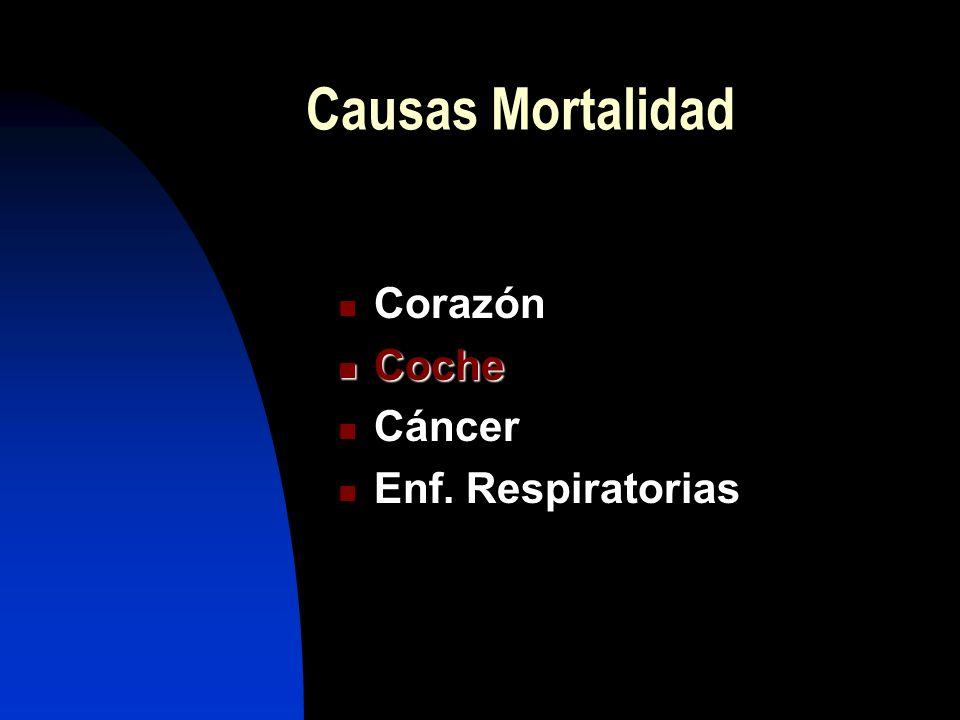 OMS: 3 millones personas/año Unión Europea: 500.000 España: > 56.000 Pérdida promedio de 7 a 20 años de vida Mortalidad