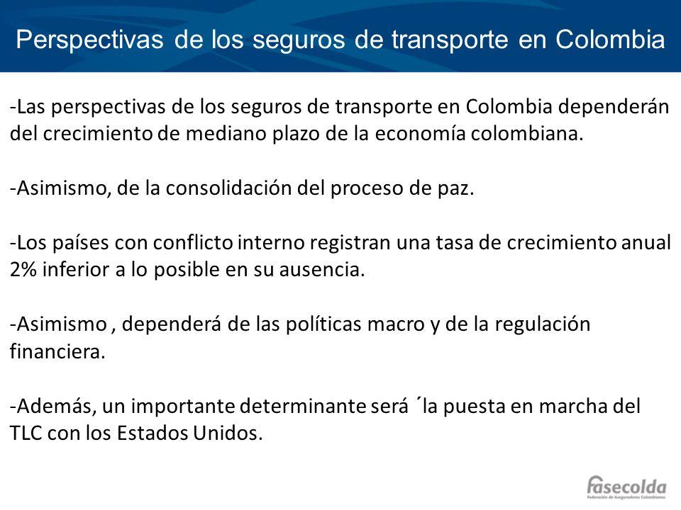 Perspectivas de los seguros de transporte en Colombia -Las perspectivas de los seguros de transporte en Colombia dependerán del crecimiento de mediano