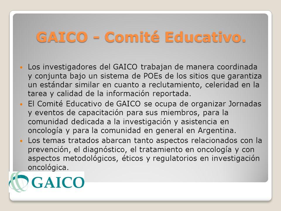 GAICO - Comité Educativo. GAICO - Comité Educativo. Los investigadores del GAICO trabajan de manera coordinada y conjunta bajo un sistema de POEs de l