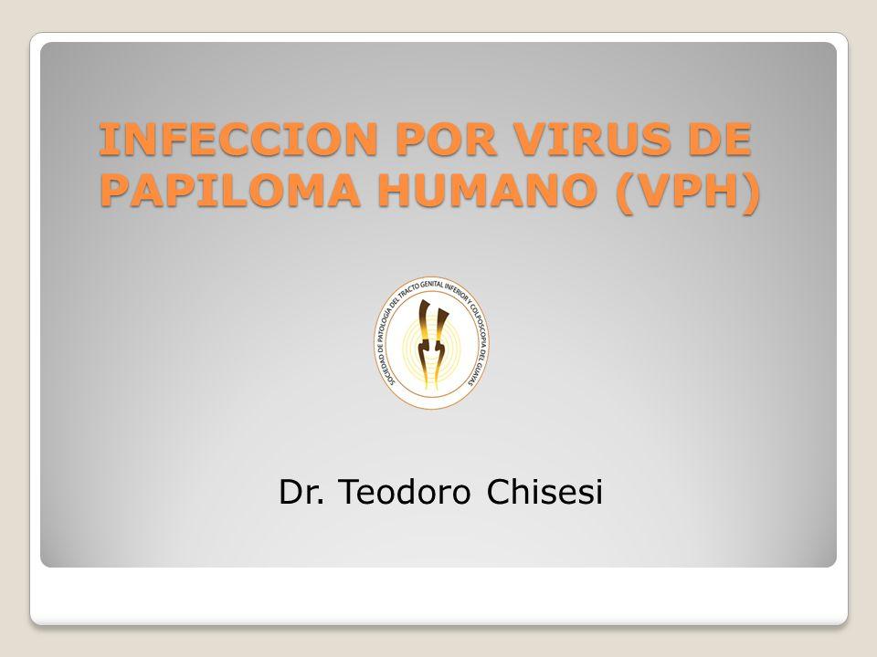 INFECCION POR VIRUS DE PAPILOMA HUMANO (VPH) INFECCION POR VIRUS DE PAPILOMA HUMANO (VPH) Dr. Teodoro Chisesi