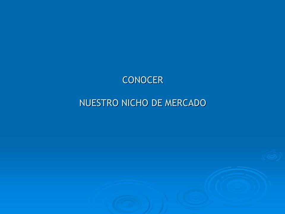 CONOCER NUESTRO NICHO DE MERCADO
