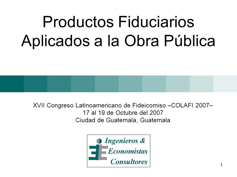 1 Productos Fiduciarios Aplicados a la Obra Pública XVII Congreso Latinoamericano de Fideicomiso –COLAFI 2007– 17 al 19 de Octubre del 2007 Ciudad de