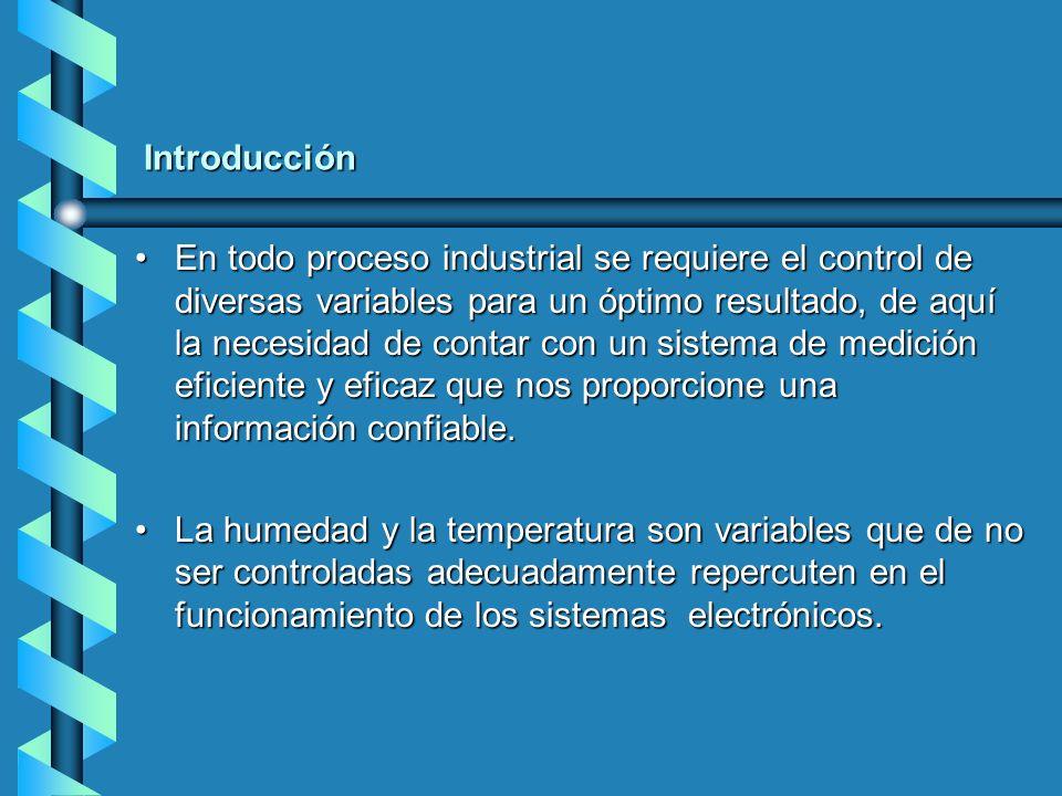 Introducción En todo proceso industrial se requiere el control de diversas variables para un óptimo resultado, de aquí la necesidad de contar con un s
