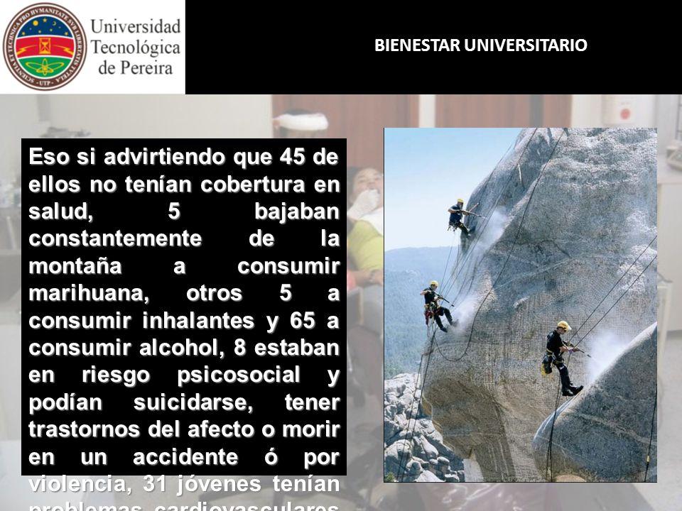 BIENESTAR UNIVERSITARIO ¿SE HARÍA USTED RESPONSABLE DE ESTE VIAJE.