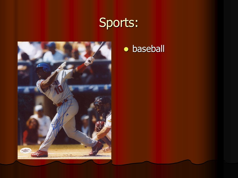 Sports: baseball baseball