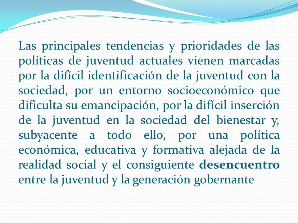 Uno de los problemas detectados en las juventudes actuales es la poca identificación de la juventud con la sociedad en la que desarrolla su vida.