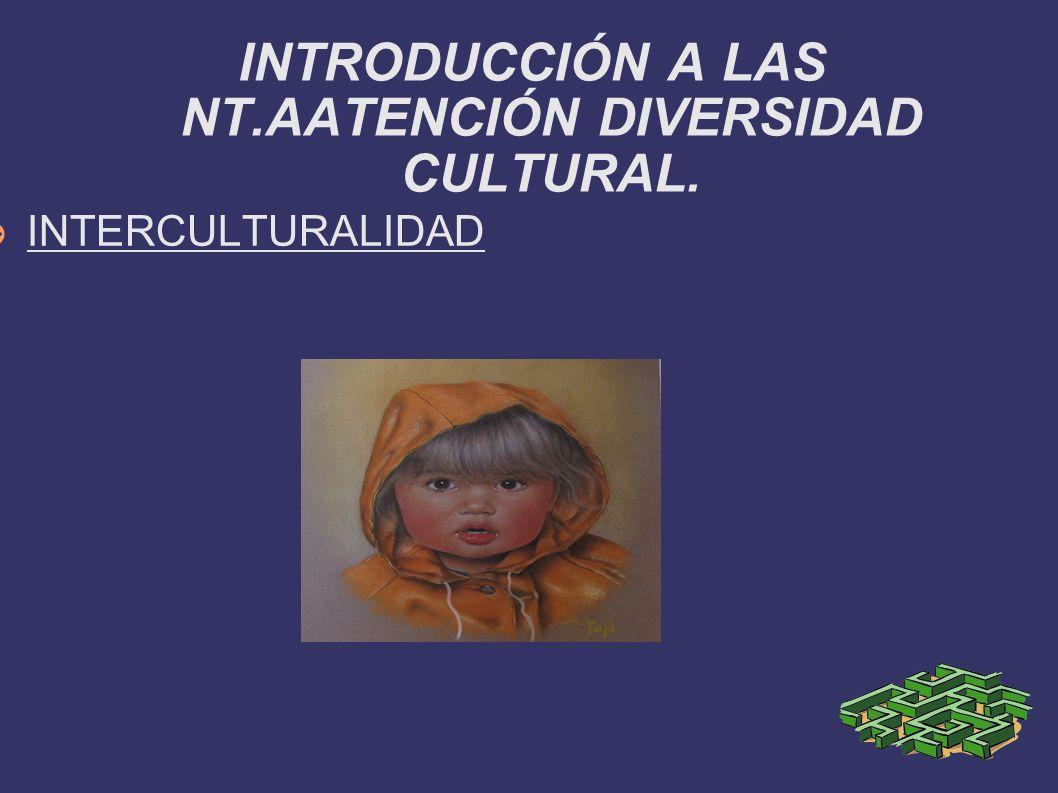 INTERCULTURALIDAD INTRODUCCIÓN A LAS NT.AATENCIÓN DIVERSIDAD CULTURAL.