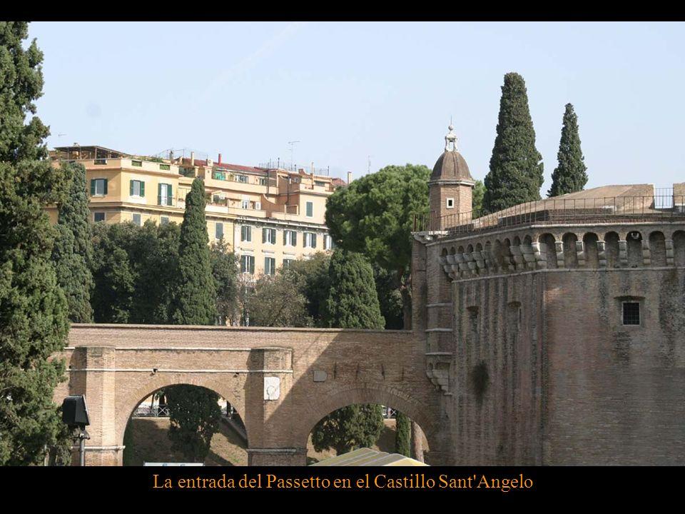 La conexion del Passetto con el Castillo Sant'Angelo
