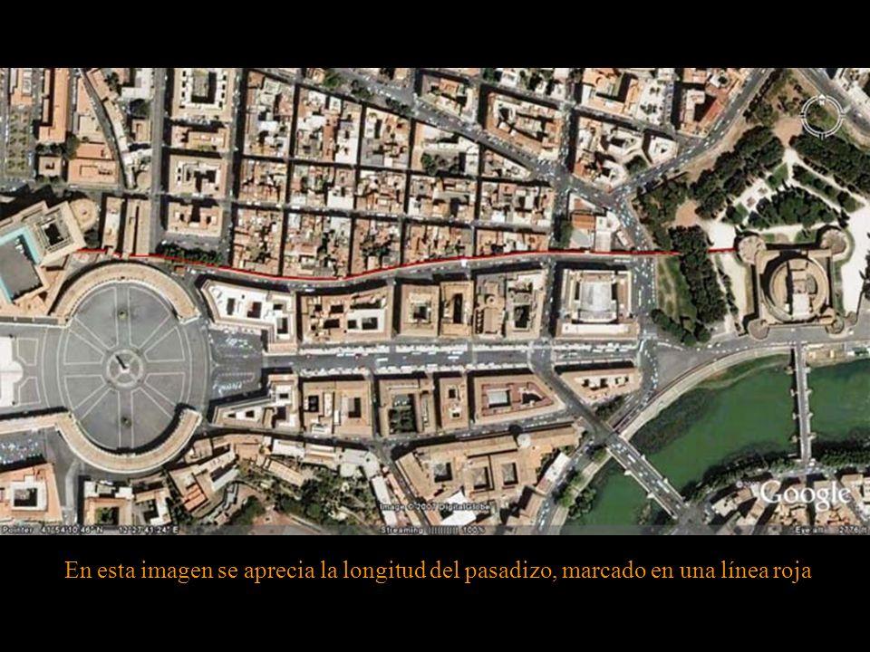 Desde hace siglos, los Papas, en caso de que peligrasen sus vidas, podían huir de los palacios vaticanos a través de un pasadizo secreto de 800 metros