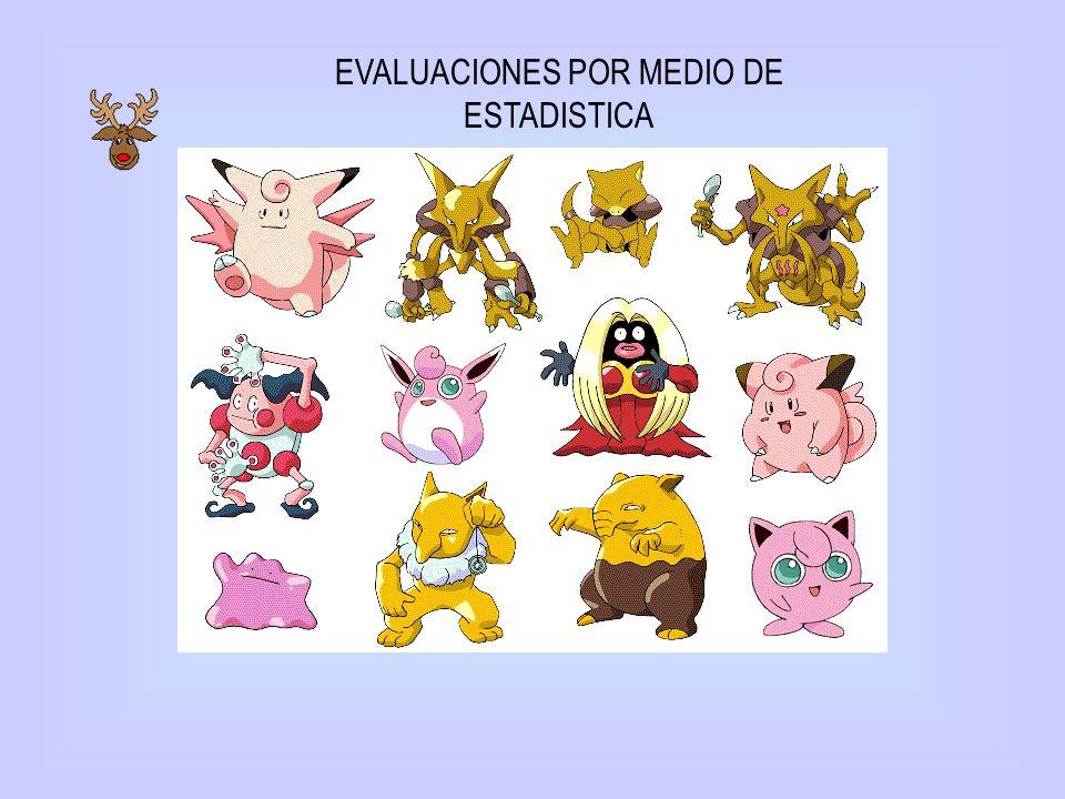 EVALUACIONES POR MEDIO DE ESTADISTICA
