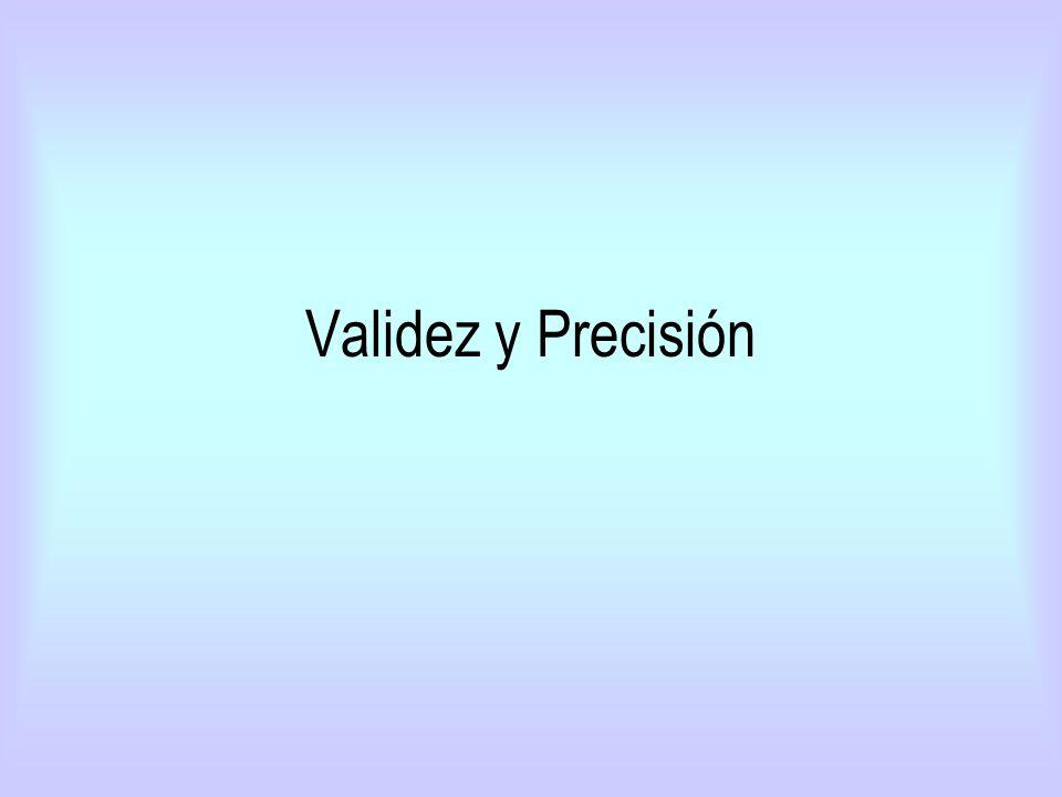 Validez y Precisión