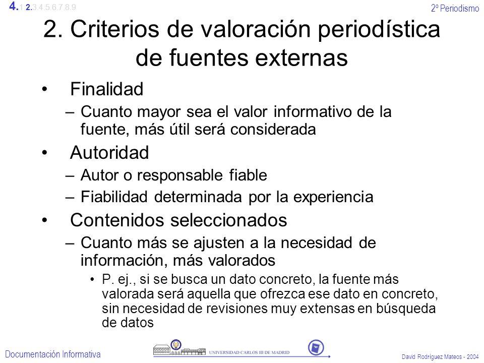 2º Periodismo Documentación Informativa David Rodríguez Mateos - 2004 2.