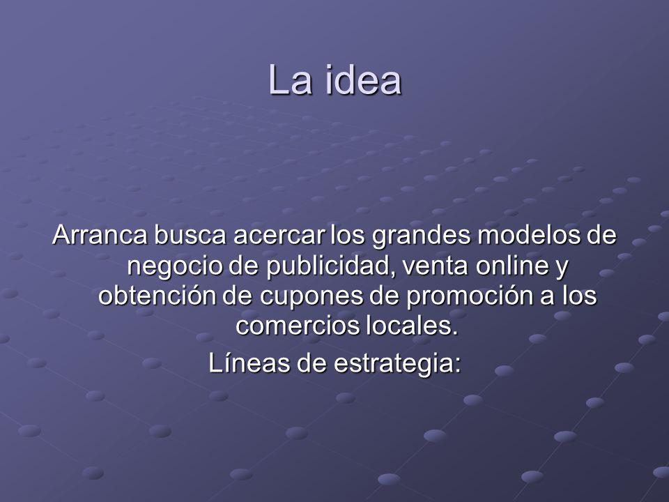 La idea Arranca busca acercar los grandes modelos de negocio de publicidad, venta online y obtención de cupones de promoción a los comercios locales.
