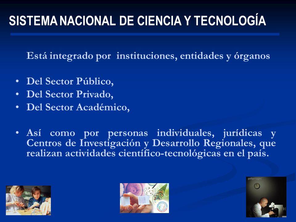 01/01/2014 Está integrado por instituciones, entidades y órganos Del Sector Público, Del Sector Privado, Del Sector Académico, Así como por personas i