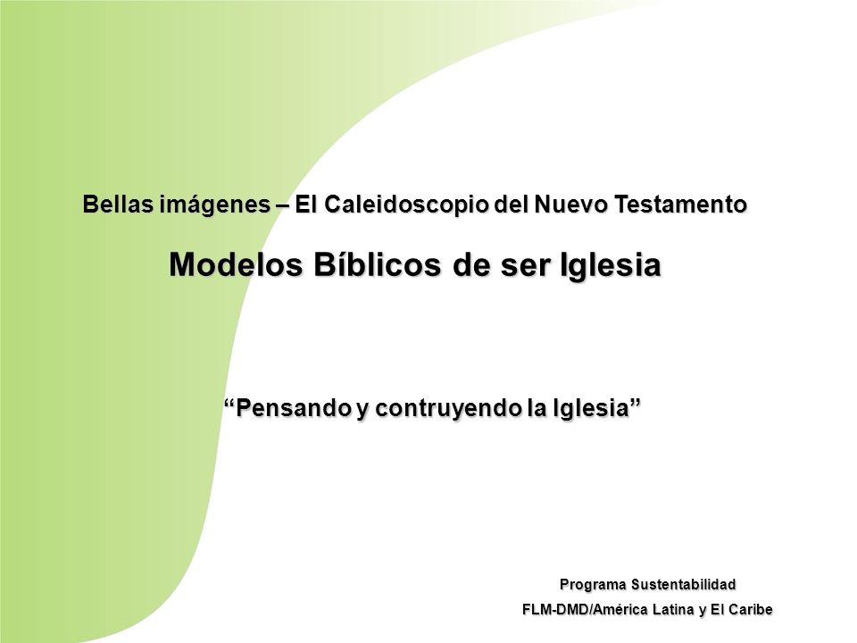 Bellas imágenes – El Caleidoscopio del Nuevo Testamento Modelos Bíblicos de ser Iglesia Pensando y contruyendo la Iglesia Programa Sustentabilidad FLM