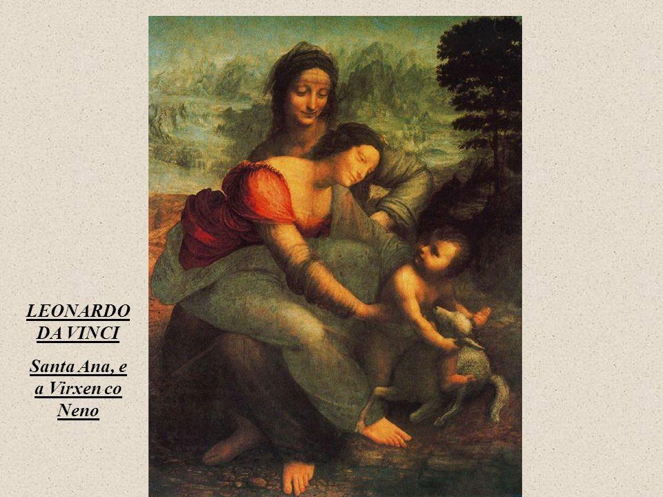 LEONARDO DA VINCI Santa Ana, e a Virxen co Neno