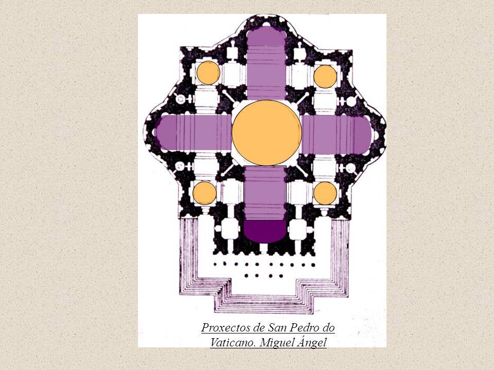 Proxectos de San Pedro do Vaticano. Miguel Ángel