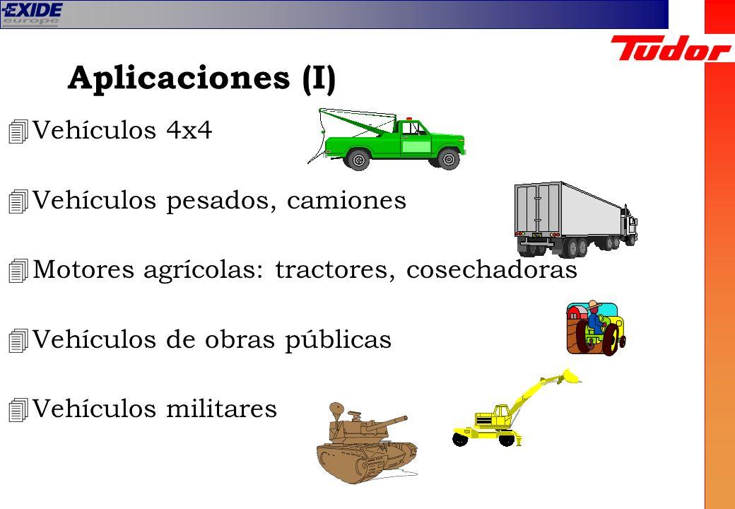 Aplicaciones (I) 4Vehículos 4x4 4Vehículos pesados, camiones 4Motores agrícolas: tractores, cosechadoras 4Vehículos de obras públicas 4Vehículos milit